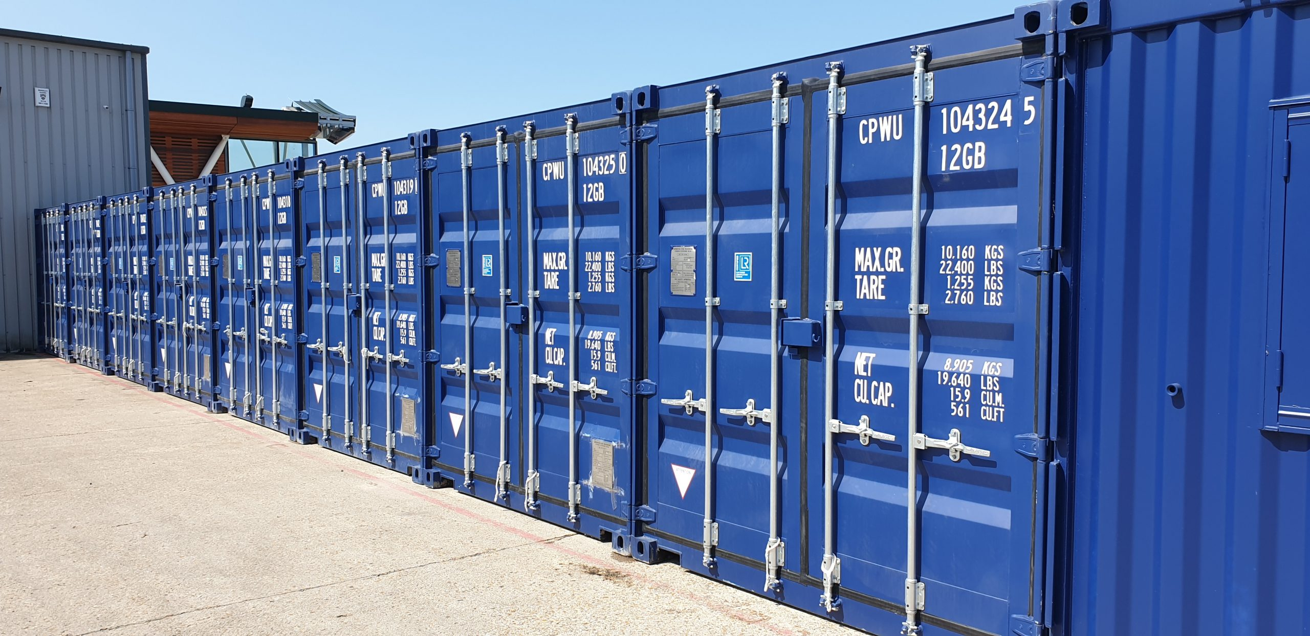 Winchester Self Storage containers access 24/7
